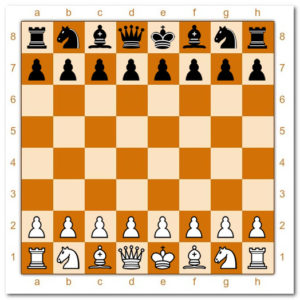 шахматные фигуры- начальное положение