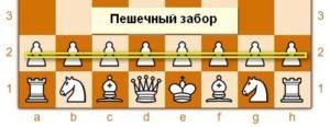 Пешечный забор в шахматах