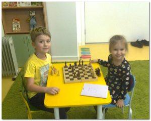 Юные шахматисты детского сада