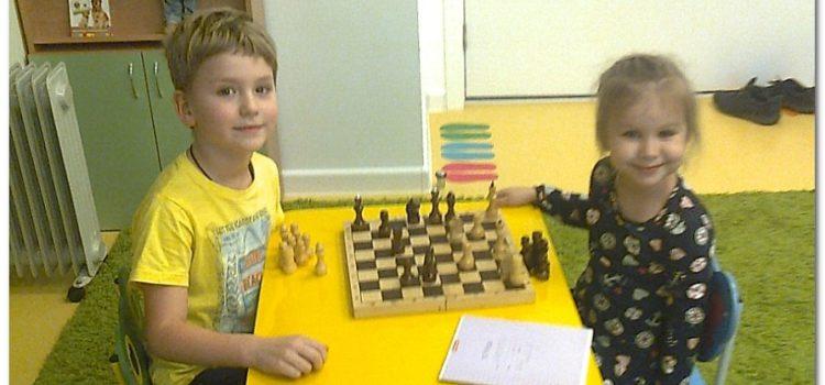 Вот такие юные шахматистики  у нас в детском садике)))