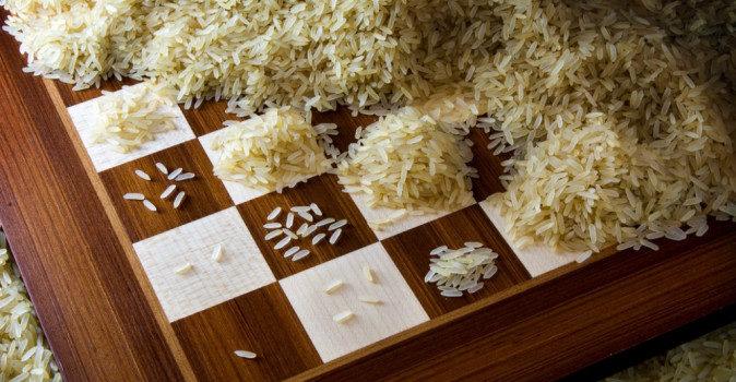 Сказка о шахматной доске и рисовых зёрнышках